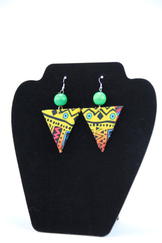 Triangle Shape Fabric Earrings