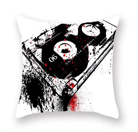 Graffiti style polyester printing pillow cover