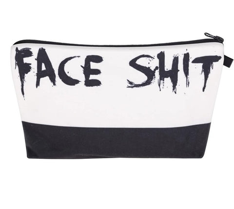 Face Sh*t Cosmetic Organizer Bag