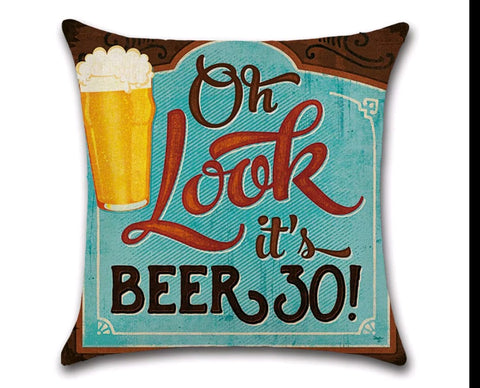 """Oh Look it's Beer 30"" Pillow Case"