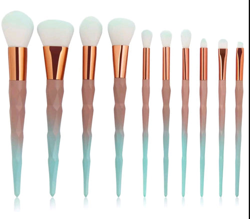 10pc Makeup Brush Set