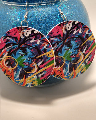 Woman in Color Earrings