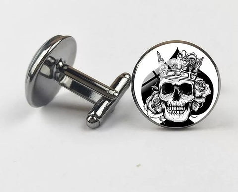 Skeleton King of Spades Cufflinks
