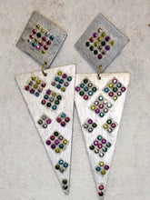Load image into Gallery viewer, Multi Color Triangle Earrings