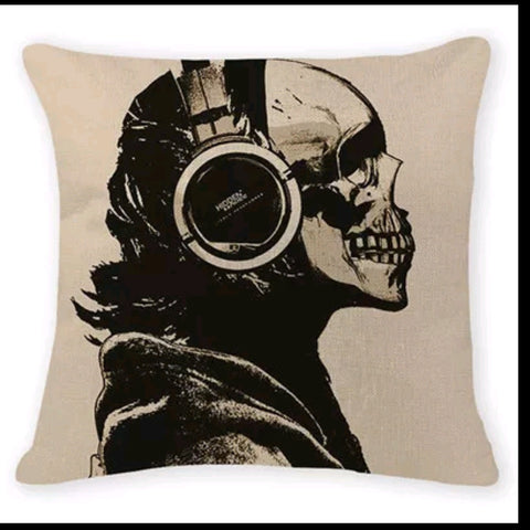 Skull N Beats Pillow Cover