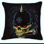 Skull & Cigar Pillow Cover