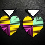 Retro Heart Earrings
