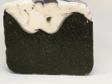 Load image into Gallery viewer, Activated charcoal sea kelp tea tree facial body bar