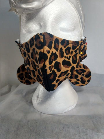 Leopard Print Face Mask Earrings Set