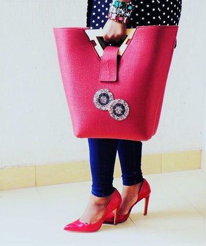 Red Natty Lux Tote