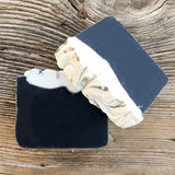 Activated charcoal sea kelp tea tree facial body bar