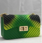Green Black Lime Jelly Shoulder Bag