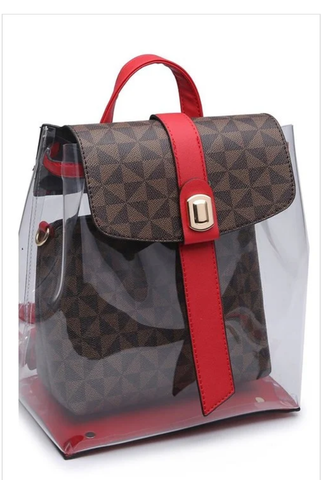 Monogram Flap Backpack
