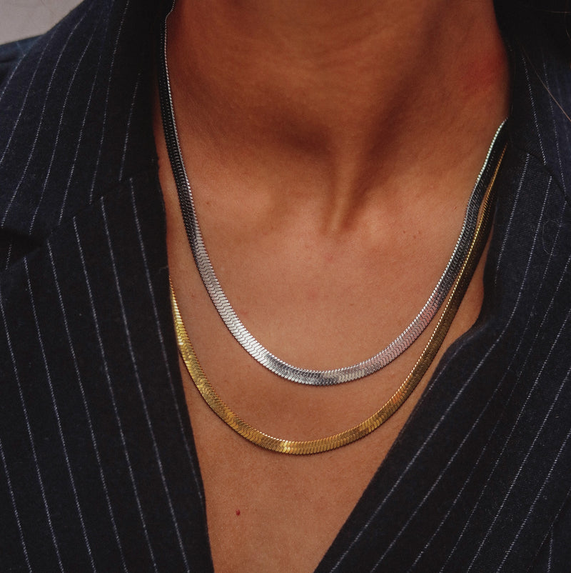 Chunky Nassau Necklace Silver