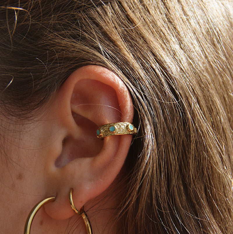 Allira Ear Cuff Blue