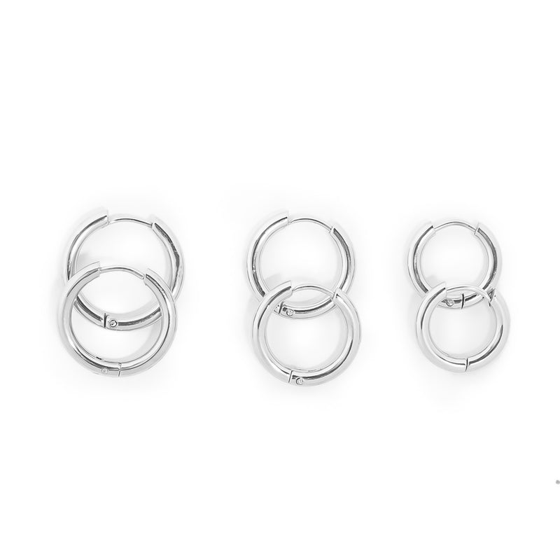 The Triple Hoops Silver Set