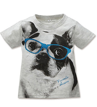 ELFIN DOLL Dog with Glass T-Shirt (only 2 left)