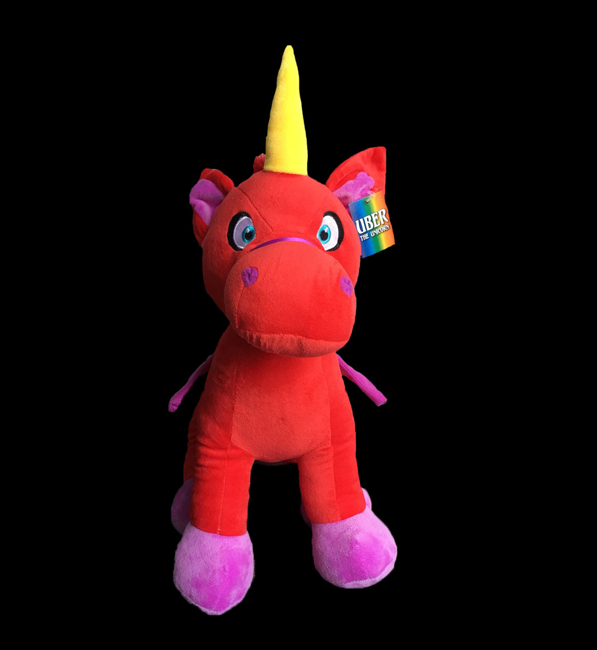 UBER THE UNICORN Stuffed Plush (Red)