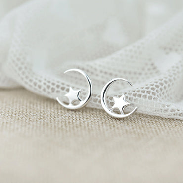 Moon & Star Mini Earrings