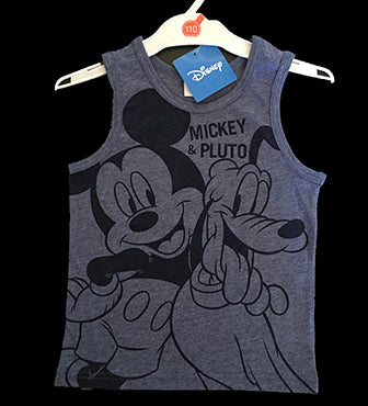 DINSEY Mickey and Pluto Singlet  (2 colour Options)
