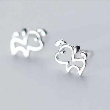 Hollow Puppy Dog Mini Earrings