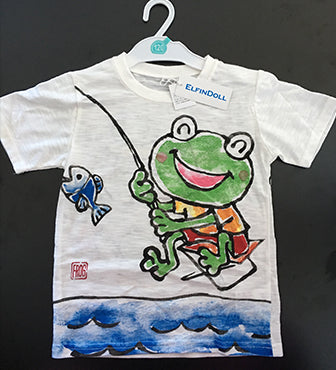 ELFIN DOLL Hand Draw Frog T-Shirt