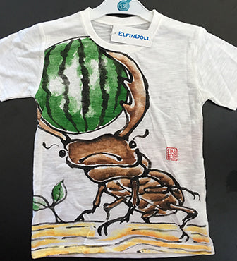 ELFIN DOLL Hand Draw Stag Beetle T-Shirt
