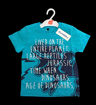 ELFIN DOLL Jurassic Dinosaur T-Shirt  (2 Colour Options)