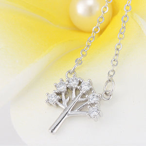Wishing Tree Zircon Necklace