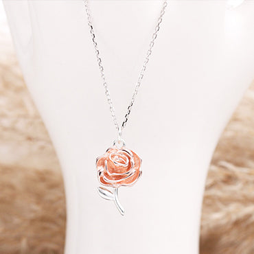 Champagne Rose Necklace
