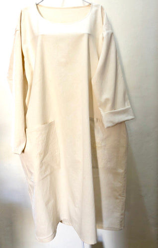 SOLD. Zayzelle, Artists Smock Natural Cotton Dress