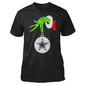 Grinch Hand Holding Dallas Cowboy Christmas T-Shirts