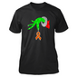 Grinch Hand Holding Ribbon Heart Multiple Sclerosis Awareness Christmas T Shirts