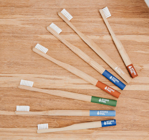 Bamboo Toothbrush with bioplastic bristles by Hydrophil
