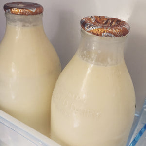 Plastic-free Milk from the local milkman