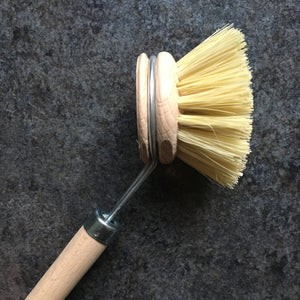 Plastic-free Wooden Dish Brush with Reusable Head