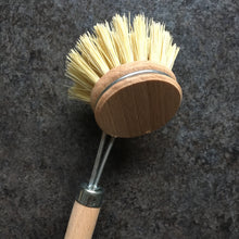 Load image into Gallery viewer, Plastic-free Wooden Dish Brush with Reusable Head