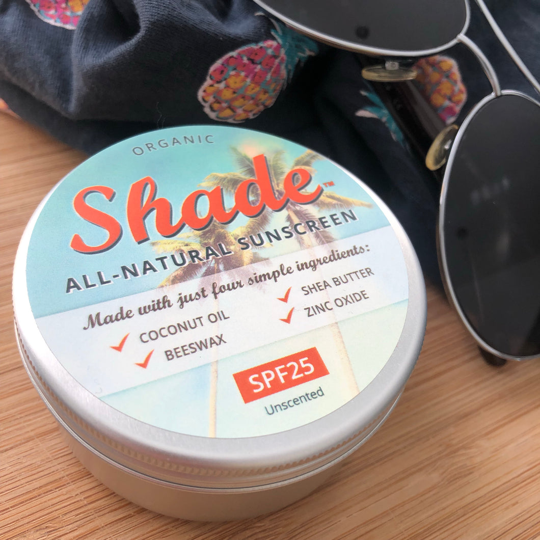 Plastic-free Natural Suncream by Shade