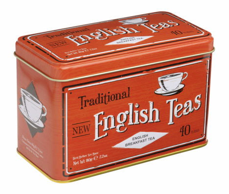 40 English Breakfast Teabag Tin