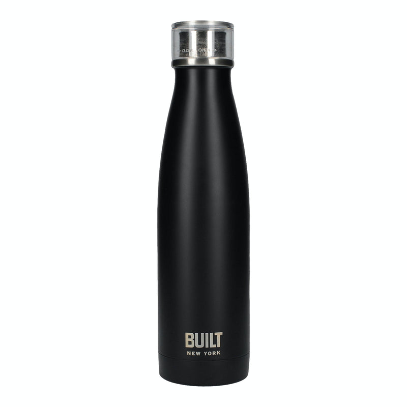 Black Built 500ml Double Walled Stainless Steel Water Bottle