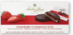Anthon Berg Strawberry in Sparkling Wine Chocolate Covered Marzipan - 220g