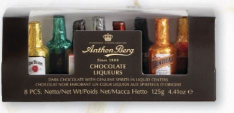 Anthon Berg 8pce Chocolate Liqueur Bottles - 125g