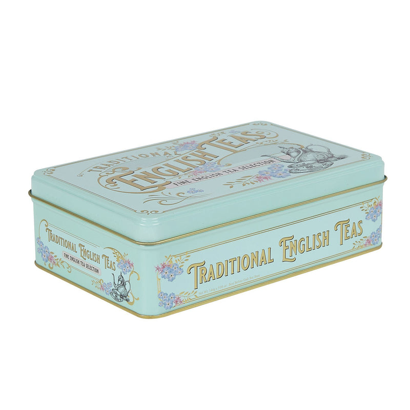 72 Teabag Selection Vintage Victorian style Tin