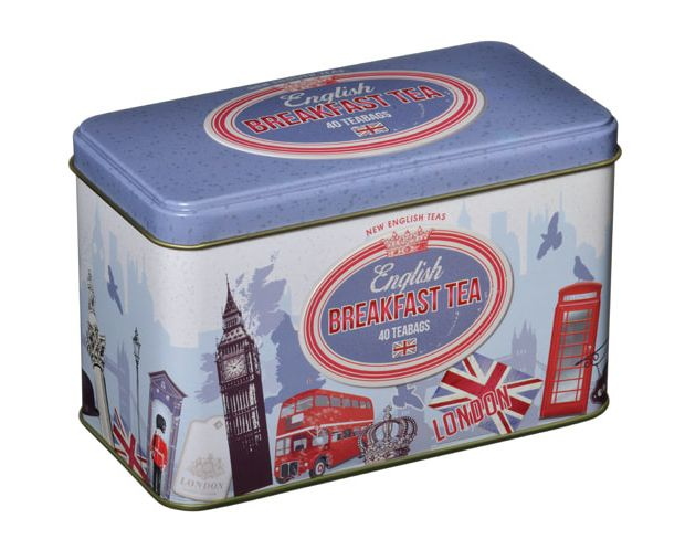 40 Teabag Tin Retro London