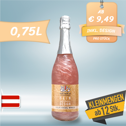 Your Drink - Angel Wings Berry-Rosé-Silver | 0,75 l