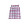 70s Plaid Skirt Pink Grey | S