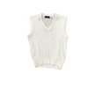 70s Sweater Vest White | L