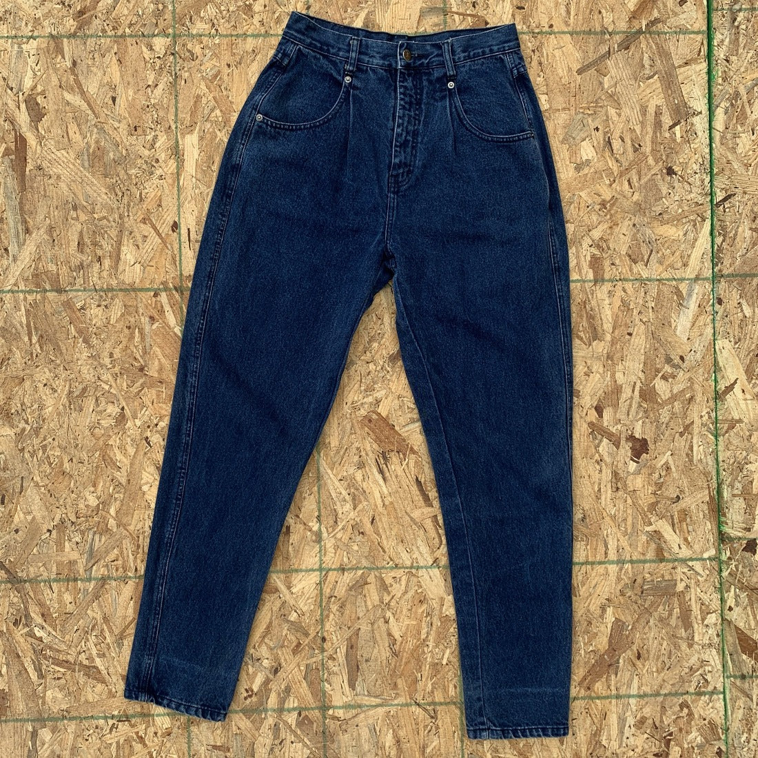 80s Brittania Pleated Denim Jeans Pants| 28