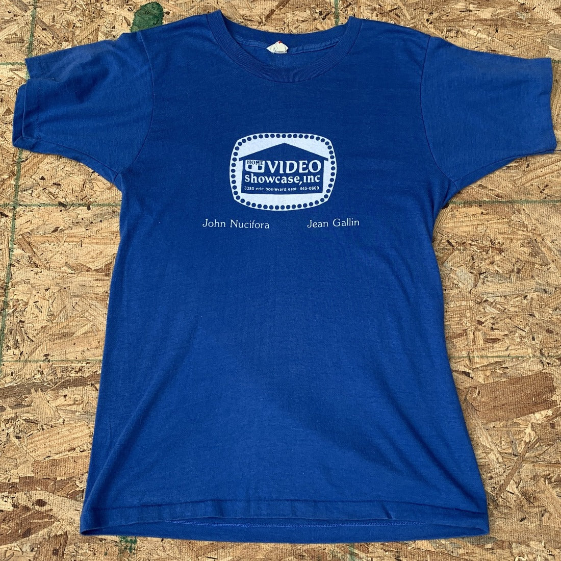 80s Home Video Showcase Blue Tshirt 50/50 | M