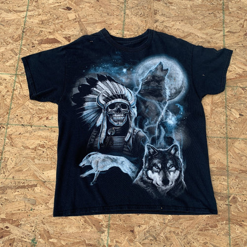 Native American Skeleton + Wolves | L